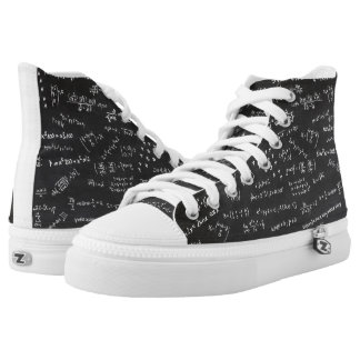 Math Formulas And Numbers On Blackboard High Tops
