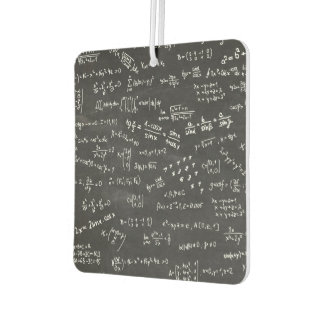 Math Formulas On A Blackboard Car Air Freshener