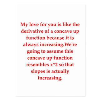 math geek love pick up line postcard