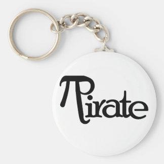 Math Geek Pirate Basic Round Button Key Ring