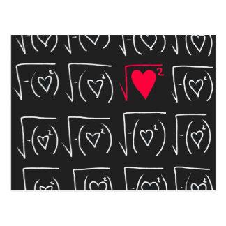 Math geek romance: find real love postcard