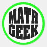 Math Geek Round Sticker
