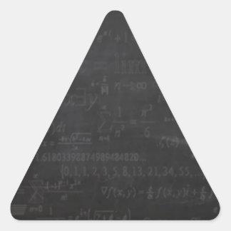 Math Geek Triangle Sticker
