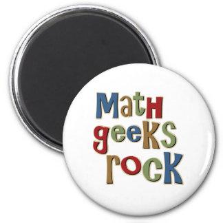 Math Geeks Rock 6 Cm Round Magnet