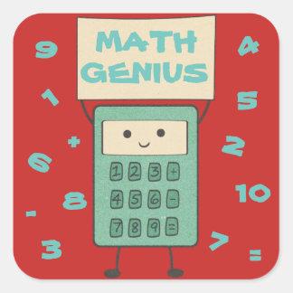 Math Genius Square Sticker