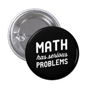Math has Serious Problems 3 Cm Round Badge