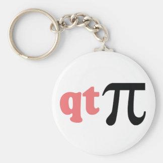 Math Humor - Cute Tee Pi Basic Round Button Key Ring