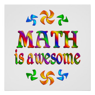 Math is Awesome Poster