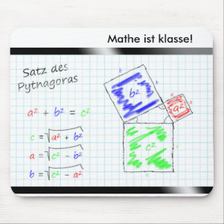 Math is class! - The set of the Pythagoras Mouse Pad