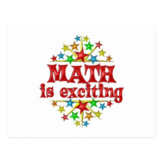 Math is Exciting Postcard