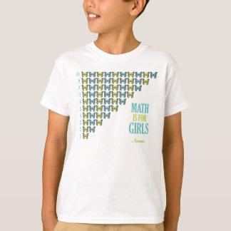 Math is for girls , I Love Math, Smart Girl Tee Shirt