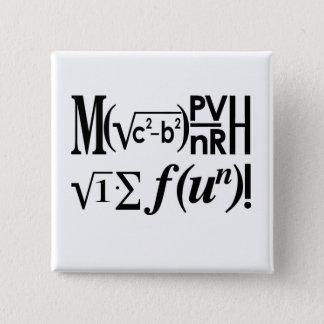 Math is Fun! 15 Cm Square Badge