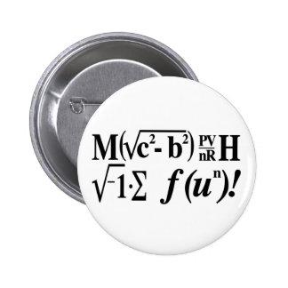 Math is Fun! 6 Cm Round Badge
