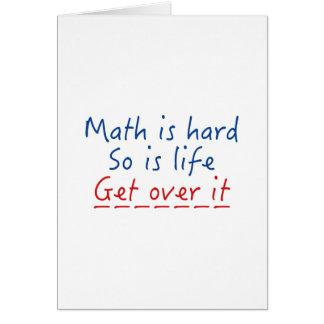 Math Is Hard Card