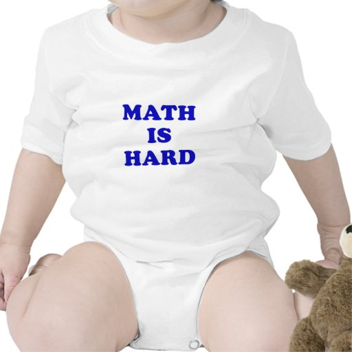 Math is Hard Baby Creeper
