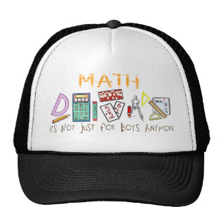 Math : It's Not Just For Boys Anymore Trucker Hats