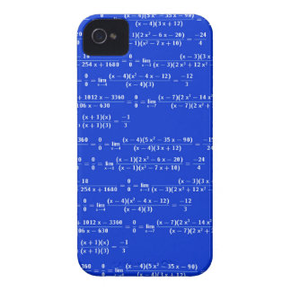Math limits - Blue model iPhone 4 Cover