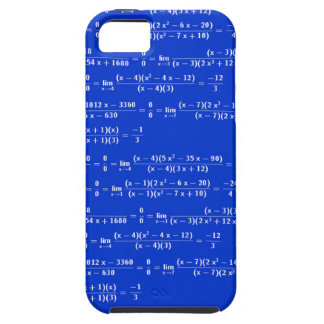 Math limits - Blue model iPhone 5 Cases