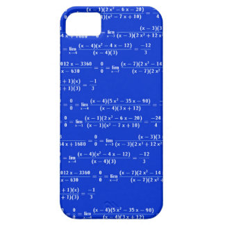 Math limits - Blue model iPhone 5 Cover