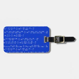 Math limits - Blue model Luggage Tag