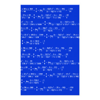 Math limits - Blue model Stationery