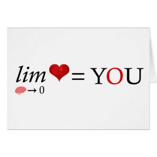 Math love card