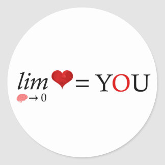 Math love classic round sticker