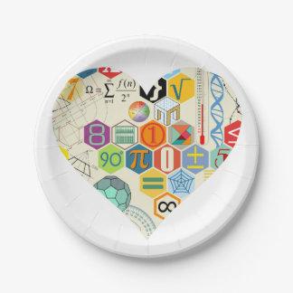 math love paper plate