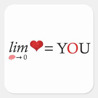 Math love square sticker