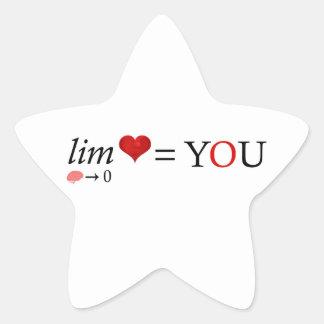 Math love star sticker
