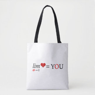 Math love tote bag