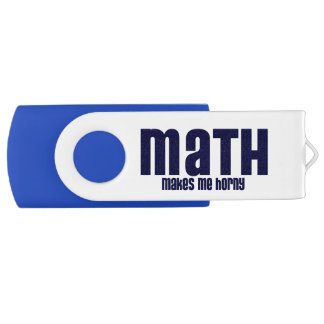 Math Makes Me Horny Flash Drive Swivel USB 2.0 Flash Drive