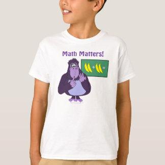 Math Matters Funny Cartoon Gorilla Math Problem T Shirts