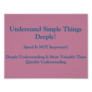 Math Mindsets Poster-Understand Deeply Poster