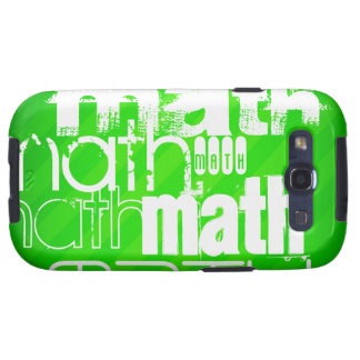 Math; Neon Green Stripes Galaxy SIII Cover