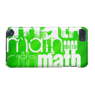 Math; Neon Green Stripes iPod Touch (5th Generation) Cases