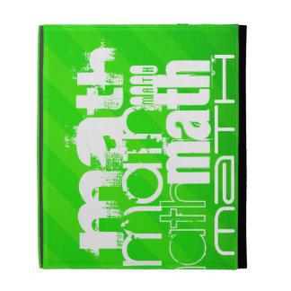 Math; Neon Green Stripes iPad Folio Cover