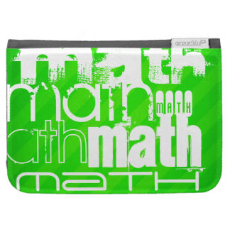 Math; Neon Green Stripes Kindle Keyboard Cases