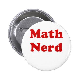 Math Nerd 6 Cm Round Badge
