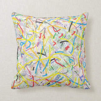 Math Numbers Abstract Art Throw Pillow