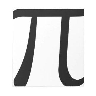 Math Pi Symbol Notepad