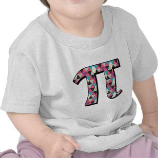 Math Pi With Cool Diamond Pattern Tee Shirts