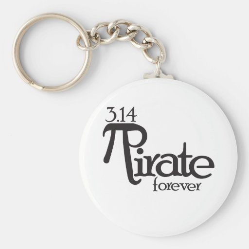 Math Pirate for Pi Day Key Chain