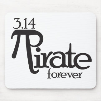 Math Pirate for Pi Day Mouse Pad