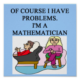MATH psychology joke Poster