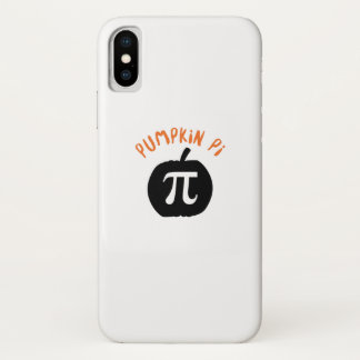 Math Pun Pumpkin Pi Funny Halloweens iPhone X Case