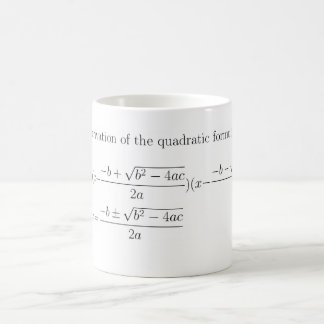 Math quadratic formula mug
