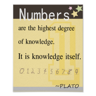 Math quote by Plato Poster
