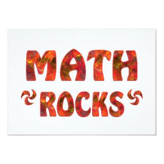 "MATH ROCKS 5"" X 7"" INVITATION CARD"
