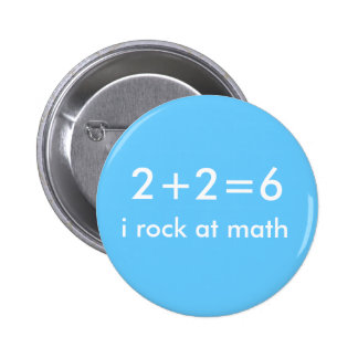 Math Rocks 6 Cm Round Badge